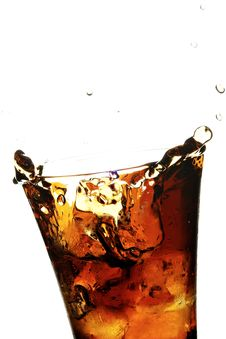 Free Glass With Cola Stock Image - 3393401