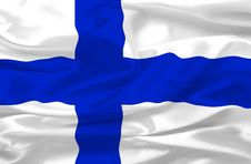 Free Finland Flag Made Of Silk Royalty Free Stock Images - 3393429