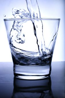 Free Water Poured Into Glass Royalty Free Stock Photos - 3394118