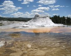 Castle Geyser Royalty Free Stock Photography