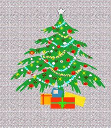 Free 3D Chtistmas Tree Stock Images - 3394784