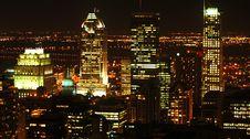 Free Montreal At Night Royalty Free Stock Photo - 3394865