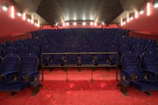 Free Empty Cinema Auditorium Royalty Free Stock Photo - 3396345