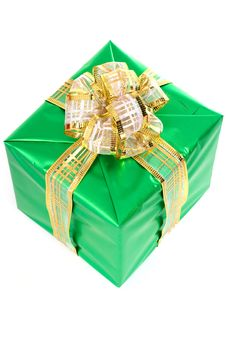 Beautifully Packed Gift Stock Photo