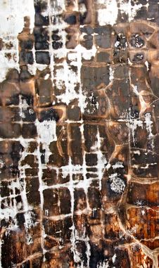 Free Charred Wall Royalty Free Stock Photography - 3396687