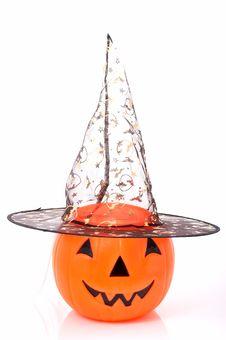Free Pumpkin Hat Royalty Free Stock Photography - 3397367