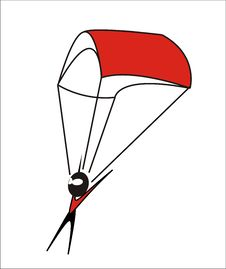 Free Parachuter -  Illustrati Stock Images - 3398214