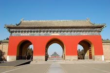 Free Gate In The Temple Of Heaven Royalty Free Stock Photography - 3398477