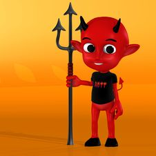 Free Cute Little Red Devil Stock Photo - 3398970