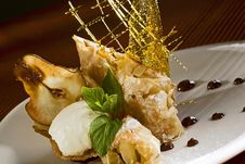 Strudel With Pear Stock Images
