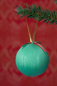 Christmas Ball Hanging Royalty Free Stock Image