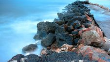 Free Rocks And Blue Sea Stock Image - 3399241