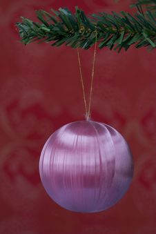 Christmas Ball Hanging Stock Photos