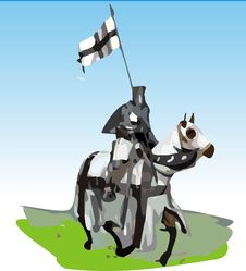 Free Teutonic Knight With Horse Stock Photos - 3399333