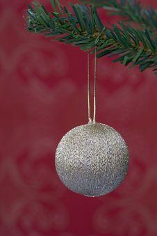 Christmas Ball Hanging Stock Photography