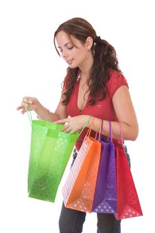 Free Beautiful Shopping Woman Royalty Free Stock Images - 3399409