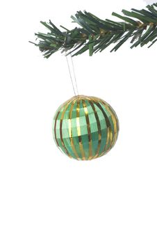 Free Christmas Ball Hanging Royalty Free Stock Photos - 3399588