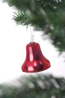 Free Christmas Bell Hanging Royalty Free Stock Photography - 3399607