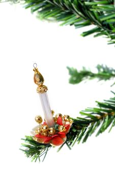 Free Christmas Candle Hanging Stock Photo - 3399630