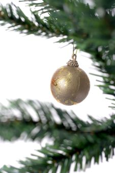 Free Christmas Ball Hanging Stock Image - 3399701