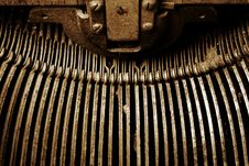 Free Vintage Typewriter Key Arms Stock Photos - 3399973