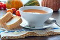 Free Pumpkin Soup With Toasts, Lunch Royalty Free Stock Photo - 33902855