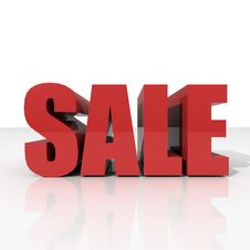 3d Red Text SALE Stock Image