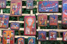 Free Orthodox Icons On Wood Stock Photos - 33902893