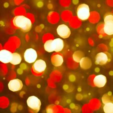 Free Red Golden Glowing Background. Christmas Card. Royalty Free Stock Images - 33906369