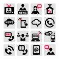 Free Communication Icons Set Stock Photo - 33911830