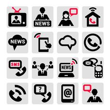 Free Communication Icons Set Stock Photo - 33911830
