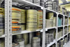 Free Films Were Stored Stock Photo - 33917050