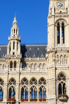 Fragment Of Rathaus In Vienna Royalty Free Stock Image