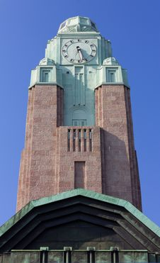 Free Helsinki Central Railway Station Tower Stock Photography - 33933792