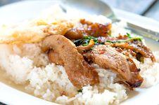 Rice With Stir Fried Stock Photos