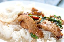 Rice With Stir Fried Royalty Free Stock Photography