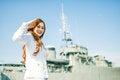 Free Woman Sailor Salute Expression Stock Photos - 33941493