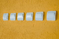 Free White Electric Switches Stock Photography - 33946202