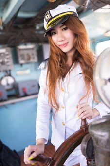 Free Woman Sailor Stock Images - 33941414