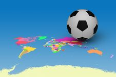 Free Football On Map Royalty Free Stock Images - 33942419