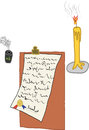 Free A Digital Art Of Write A Letter Stock Photo - 33955290