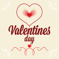 Free Greeting Card For Valentines Day. Heart As Fingerp Stock Photo - 33959620