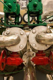 Industrial Pipeline, Valve Stock Photo