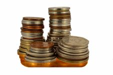 Free Stack Of Coins Royalty Free Stock Image - 33958496