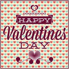 Free Greeting Card For Valentines Day. Seamless Pattern Stock Photos - 33959633