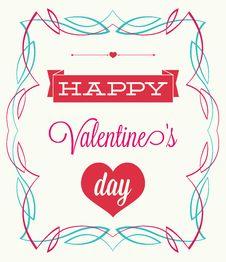 Free Valentines Day. Vintage Style Royalty Free Stock Image - 33959676