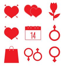 Free Valentines Icon Set Royalty Free Stock Images - 33959679