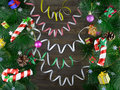Free Christmas Background With Conifer And Decorations 2 Royalty Free Stock Photo - 33962045