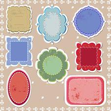Free Retro Stickers Stock Image - 33963941