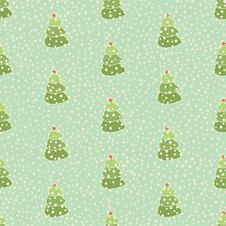 Free Christmas Tree Retro Seamless Background Royalty Free Stock Photos - 33964338